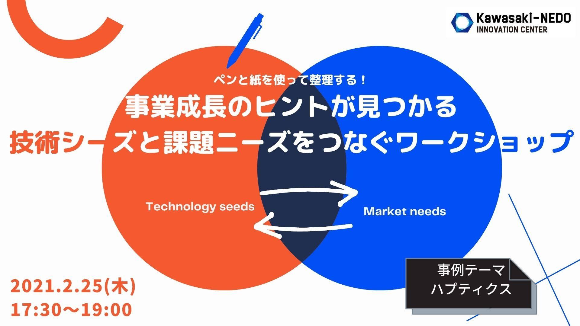 【オンライン】ペンと紙を使って整理する! 事業成長のヒントが見つかる 技術シーズと課題ニーズをつなぐワークショップ